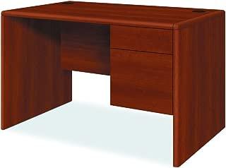 HON 107885RCO 10700 Series Single 3/4 Right Pedestal Desk, 48w x 30d x 29 1/2h, Cognac