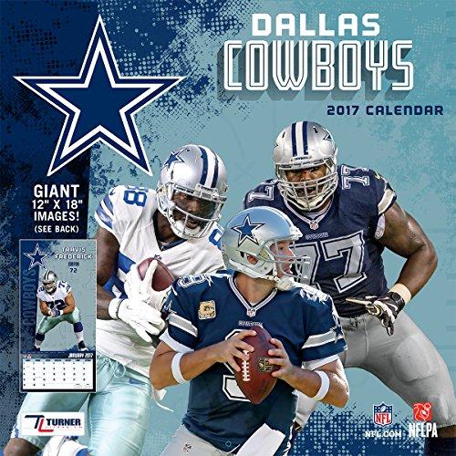 """Turner Licensing Sport 2017 Dallas Cowboys Team Wall Calendar, 12""""X12"""" (17998011907)"""