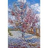 JW-MZPT Rompecabezas de Madera de Cuadros Famosos del Mundo, Pintura al óleo de los Juguetes educativos de Cuadros Famosos Pintores Van Gogh para conmemorar Muff árbol de melocotón,2000pieces