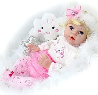 Aori Reborn Baby Dolls Realistic Vinyl 22 Inch Angel Baby Doll with Cloud Birthday Set for Girls Age 3