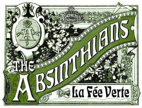 plaque métal 40x30 cm alcool absinthe fee verte absinthians