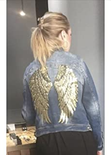 Chaqueta mujer vaquera alas oro y tachuelas