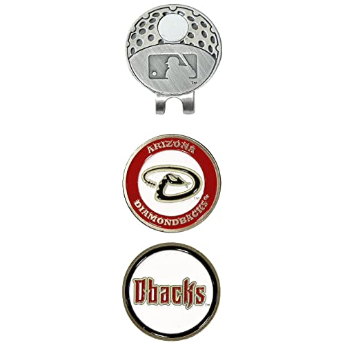 Team Golf MLB Golf Cap Clip with 2 Removable Double-Sided Enamel Magnetic Ball Markers