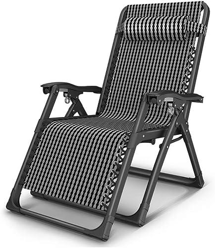BYZDD Chaise Longue, Chaise De Plage Portable à Dos De Carte Multifonctions pour Bureau à La Maison Multifonctionnel, Noir