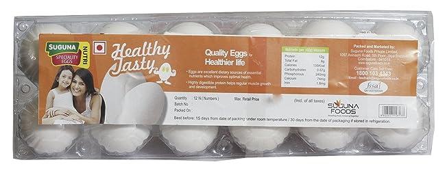 Suguna Eggs - Nutri Healthy Tasty 12 Piece Pack