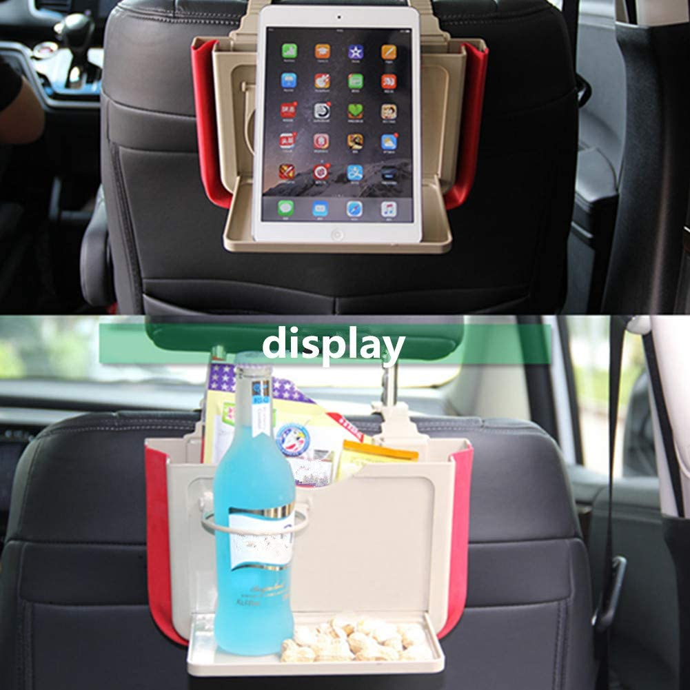 qingqingxiaowu Lenbest Travel Tray Travel Tray For Car Seat Lenbest Snack And Play Travel Tray Car Seat Tray Kids Travel Tray Car Seat Organiser With Tray Table white