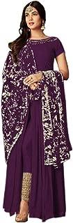 THE3536 Women's Plain Designer Fancy Indo - Westren Style Salwar Suit Blue