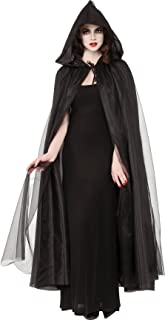 Costume Co. Women's Full Length Hooded Cape with Tulle Overlay
