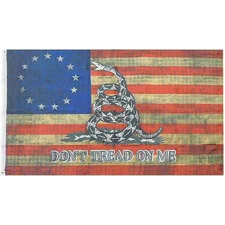 3x5 Betsy Ross Gadsden Premium Quality 100D Woven Poly Nylon Flag 3/'x5/' Banner