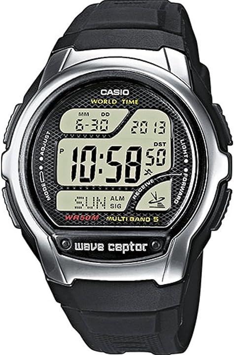 Orologio casio wave ceptor con ricezione segnale radio nero digitale uomo con cinturino in resina WV-58E-1AVEF