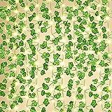 Artificiale Ghirlanda di Fiori di edera Luci ,decorative ALuci di Fata con Foglie, 10M 200 LED , Catena luminosa Fata Rame per Interni, camere da Letto, atrimonio, Decorazioni per Feste