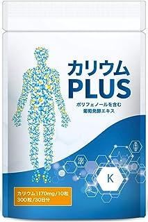 カリウム 1,170mg ミネラル ビタミンB サプリ カリウムPLUS 300粒
