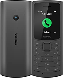 Nokia 110 4G with Volte HD Calls, Up to 32GB External Memory, FM Radio (Wired & Wireless Dual Mode), Games, Torch | Charcoal
