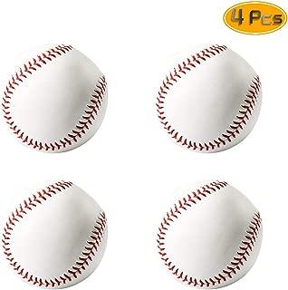 Sc0nni 4Pack Training Baseballs,Practice Baseballs,Reduced Impact Safety Baseballs,Team Game Competition Pitching Catching Training