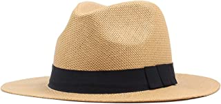 YSNRH Hat Summer Straw Sun Hats for Men Safari Beach Hat - Foldable Straw Harvester Hat Sun Protection Sun hat Bush Hat Bucket Hat Pile Cap Straw Camping,Outdoor,Hiking,Summer (Color : Beige)