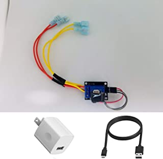 Voice Control Your Fireplace. 5 Volt Relay Switch KIT. Works with Any Smart Outlet. (Relay Kit - with Power Adapter and 12