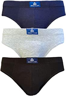 3 slip mutande uomo in cotone elasticizzato con etichetta a vista Armata di Mare