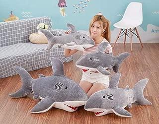 liujiu IKEA Plush Toy Shark Pillow Plush Doll Big White Shark Pillow Doll Sleeping Doll Girl (80Cm)