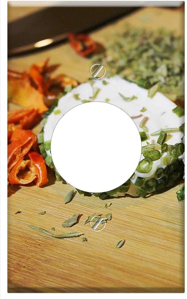 Single Hole Device Receptacle Wall Plate Cover - Herbs Goat Chee