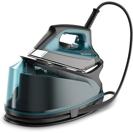 Rowenta Compact Steam Pro DG7623 Centro de planchado, 6.3 bares de presión, golpe de vapor de 325 g/minuto, suela antiarañazos deslizante, sistema eco