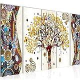 decoración de la mesa Wall Gustav Klimt Árbol de la Vida - 200 x 80 cm Vista de impresión en lienzo Salón Apartamento - listo para colgar - 004655a