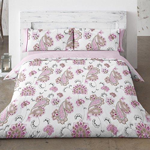 Burrito Blanco - Juego de Funda nórdica 692 para cama 150x190/200 cm, color rosa
