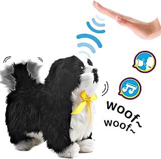 deAO Mascota Interactiva Perrito Robot Inteligente Juguete Electrónico con Ladridos, Movimientos, Música y Sensor al Tacto Incluye Caseta de Perro