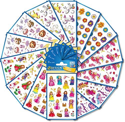 AVERY doelvorm art. 59990 Stickers kinderen (ticker set meisjes, kinderstickers, ballerina, prinses, paarden, zeemeermin, kinderverjaardag, cadeautje, schatzoeken), 524 stuks