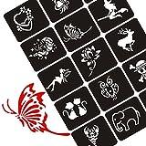 XMASIR - Plantilla para Dibujar Tatuajes, 70 Hojas, diseño de Mujer con Purpurina, Plantillas y Plantillas para aerógrafo