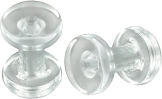 8G 8 gauge 3mm - Clear Acrylic screw fit Flesh Tunnels Ear Plugs ADAE - Ear Stretching Expanders Stretchers - Sold as a Pair