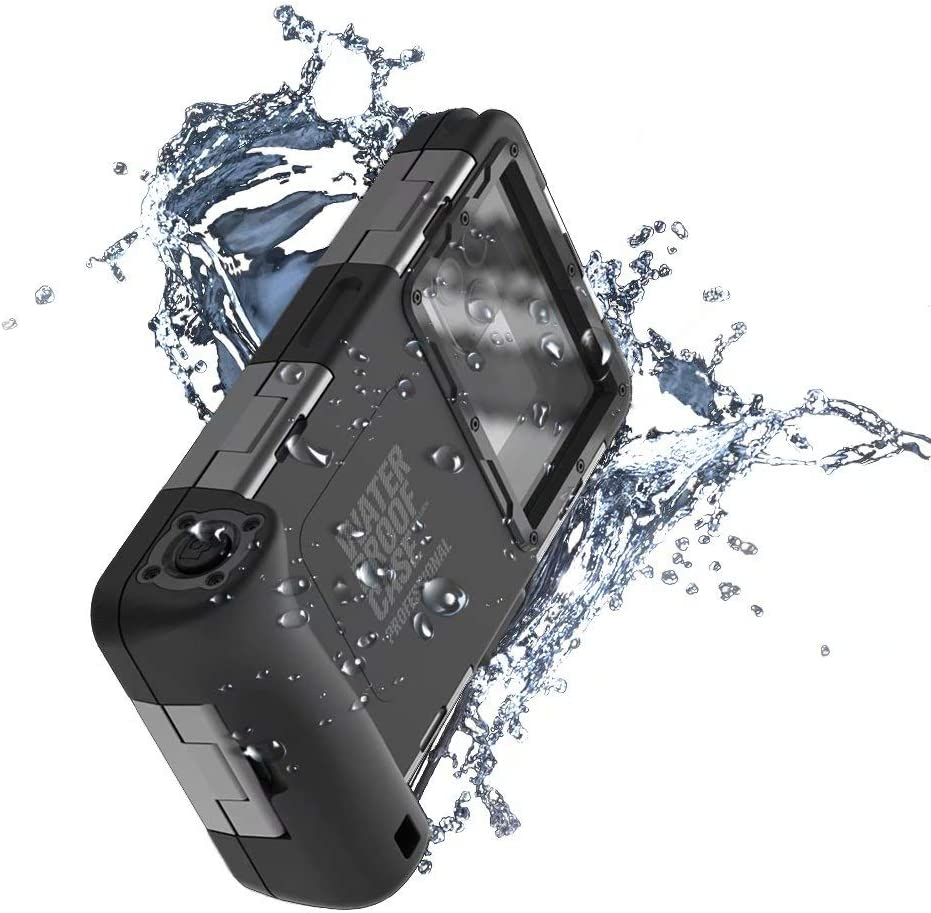 Professional [15m/50ft] Underwater Photography Phone case for iPhone Samsung LG Google OnePlus Universal Waterproof Case for Diving Snorkeling Scuba Surfing Swimming with Lanyard, 2nd Gen (Black)