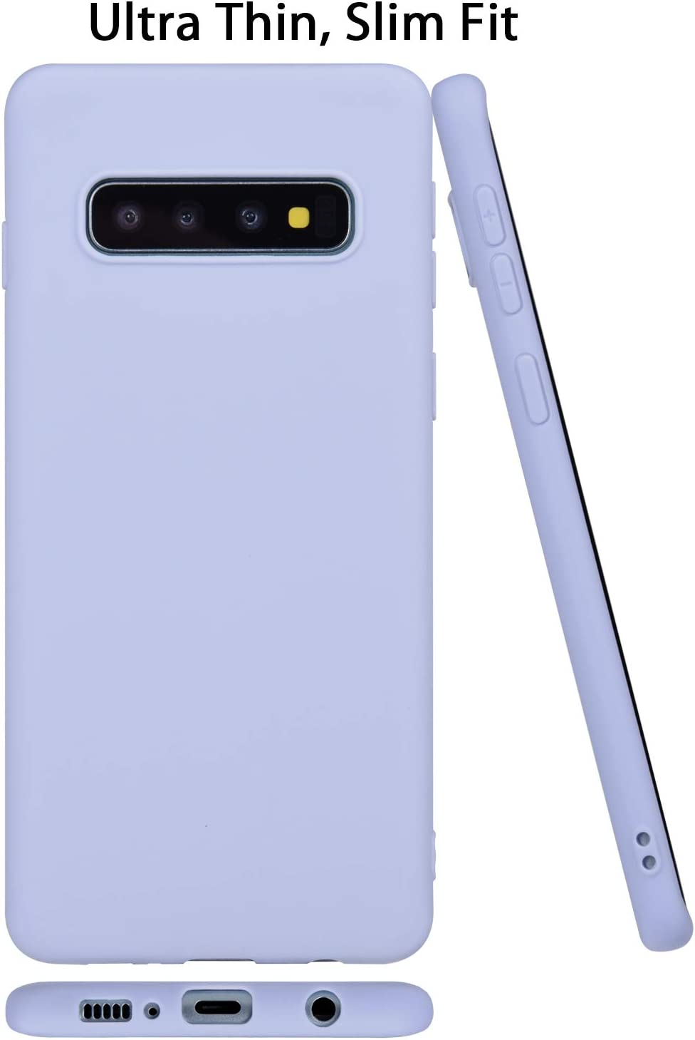 Galaxy S10 Case, Wisdompro Bundle of 5 Pack Extra Thin Slim Jelly Soft TPU Gel Protective Case Cover for Samsung Galaxy S10 (Green, Light Blue, Pink, Yellow, Red)-Candy Color