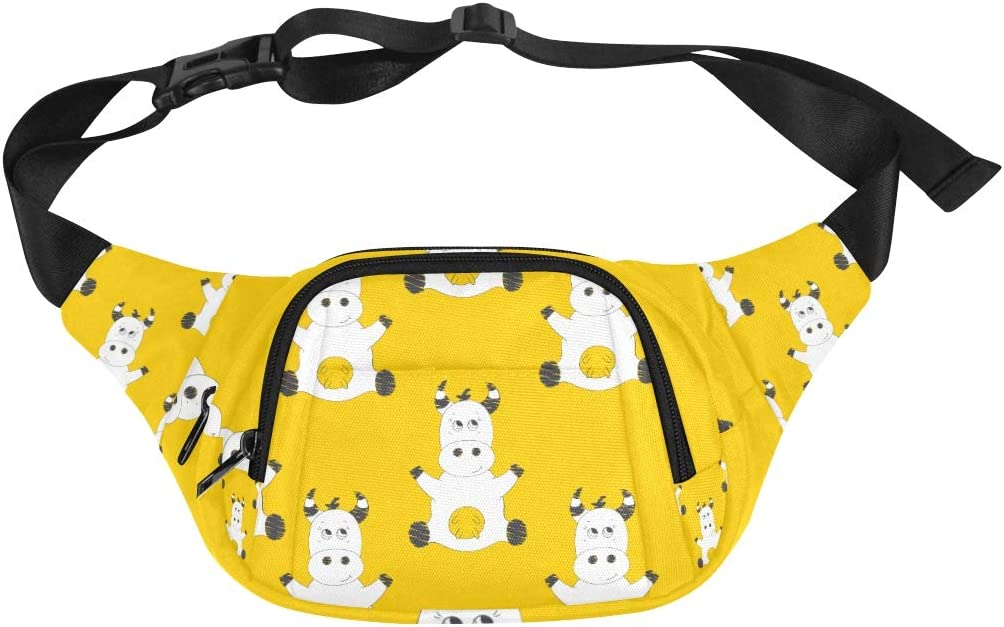 Men Bags Travel Funny Naturel low-pricing Max 48% OFF Cute Be Wild Animal Adjustable Cow