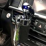 fms car cigarette ashtray portable solar charging automotive ashtray with blue led light for most