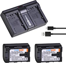 PowerTrust 2-Pack BN-VG114 Battery and Dual Fast Charger for JVC BN-VG107 BN-VG107U BN-VG107US BN-VG114U BN-VG114US BN-VG121 BN-VG121U BN-VG121US Battery and JVC Everio Camera