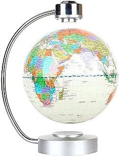 Globes, Magnetic Floating Globe Levitation Rotating Earth with LED Illuminated Globe World Map Globe 8 Anti Gravity Earth ...