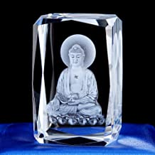 ZGPTX Crystal 3D Laser Statue Decor Gift Such As The Buddha Sukumaran Western Buddha Statue Crystal Carving