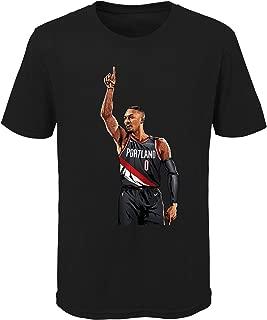 Outerstuff Youth Damian Lillard Portland Trail Blazers Black NBA Hero T-Shirt