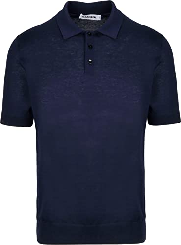 Jil Sander Homme JSUO751216MOY25108415 Bleu Coton Polo