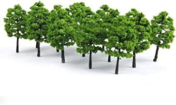 20 Model Trees Train Railroad Diorama Wargame Park Scenery Green Plants Decor Durable and Useful