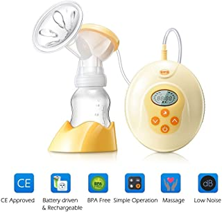 KINYO Electric Breast Pump Portable Breastfeeding Milk Pump with LCD Screen Automatic Massage Function Bpa Free