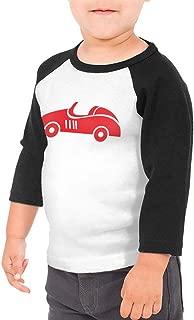 HIGASQ Unisex Baby Sports Car Toddler's O Neck Raglan 3/4 Sleeve Baseball T Shirt for 2-6 Boys Girls
