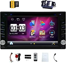 EinCar 6.2 Inch Universal Double 2 Din In Dash Car CD DVD Player GPS Stereo Radio Bluetooth Navigation USB SD Input + Free 8GB Map Card + Reverse Camera