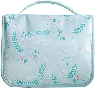 Hanging Toiletry Bag Multifunction Cosmetic Bag Portable Makeup Pouch Waterproof Travel Hanging Organizer Bag for Women/Men Girls/Boys (Blue)