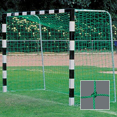 DONET Handballtornetz/Kleinfeld 3,1 x 2,1 m Tiefe Oben 0,80 / unten 1,00 m, PE 4 mm ø, grün