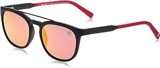 نظارات شمسية للرجال من تيمبرلاند TB918102D53 - لون اسود غير لامع / رمادي عدسات مستقطبة - مصنوعة بتقنية الحقن