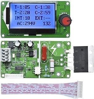 Spot Welder Control Module, Aideepen 100A Digital Digital Tube LCD Double Pulse Encoder Spot Welder Welding Transformer Ti...