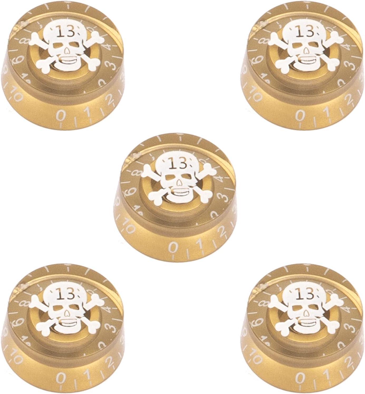 5Pack Yootones Skull Head Guitar Nippon regular agency Knobs Speed Control Tampa Mall Tone Volume