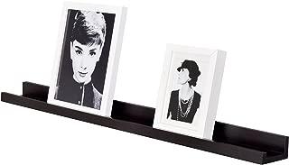 WELLAND Photo Ledge Picture Ledge, Picture Ledge Shelf (36-inch, Espresso)