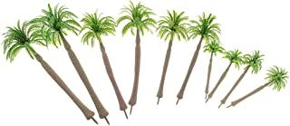 Flameer 1/75 Miniatures Layout Tree Models Green Coconut Tree for Warhammer Diorama